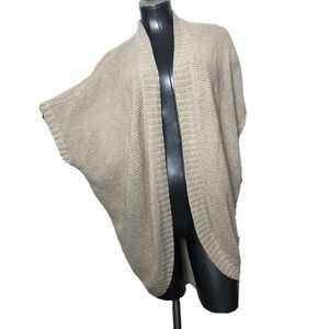 Eileen Fisher Knit Cream Sleeve Sweater Cardigan